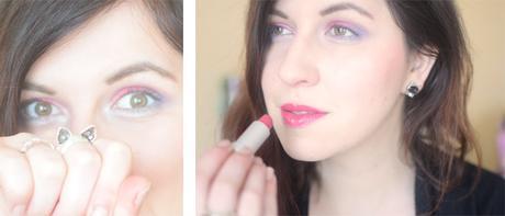 maquillage boho green flower power makeup