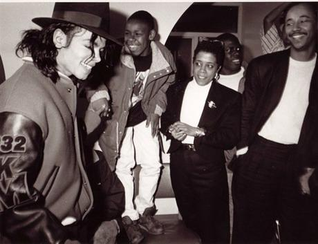 Michael Jackson and Jesse Vaughan capital museum 1990