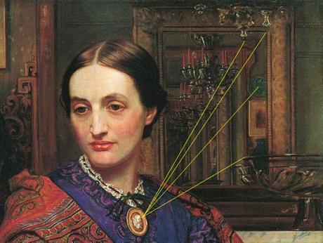 Hunt portrait-de fanny-1868 miroir