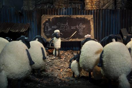 BW Shaun Le Mouton copyrigth 2014 Aardman Animations limited and studio canal S.A 2