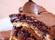 Gâteau fondant chocolat/cookie noix pécan