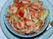 Salade chinoise crevettes