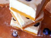 Cheesecake squares mascarpone myrtille