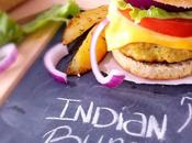 Burger l'indienne frites four