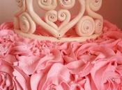 Rose cake Princesse avec couronne