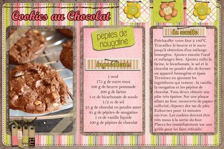 Cookies au chocolat, nougatine, et re pépites de chocolat !