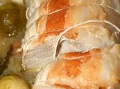 RÔTI PORC FRUITS LÉGUMES SAISON (coings, pommes TENTATION, choux Bruxelles carottes)