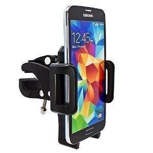 mobilefox® Samsung Galaxy S2 / S3 / S4 / S5 / Mini / Active Smartphone - Support De Guidon Vélo Pour Tél. Portable, Système De Navigation - Pivotable 360°  - Bouton de sortie confortable pour l'équipement de montage rapide - Solide, de haute qualité ...