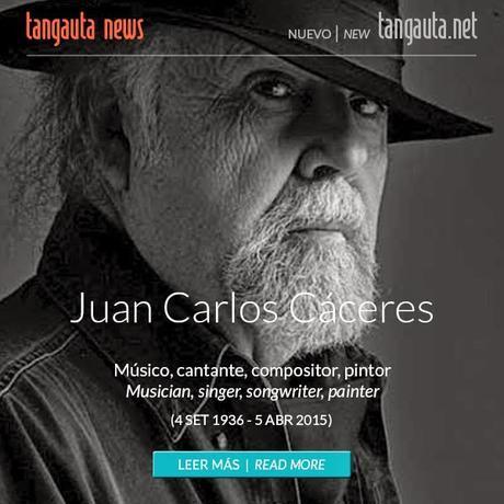 El Tangauta rend hommage à Juan Carlos Cáceres sous la plume de Makaroff [Actu]