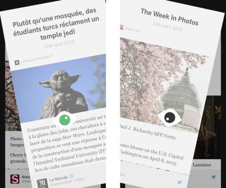 Something pour iPhone: transforme votre compte Twitter en un magazine
