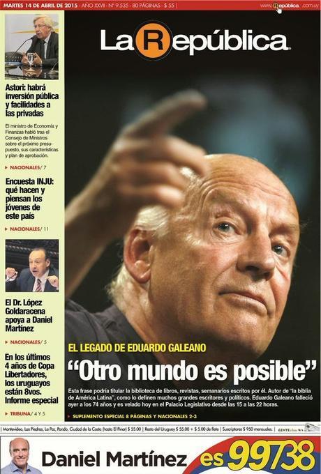 Disparition d'un grand écrivain uruguayen: Eduardo Galeano [Actu]