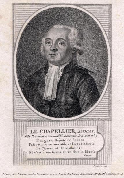 Histoire des relations du travail depuis la loi Le Chatelier depuis 1791.