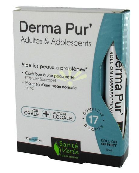 Santé Verte - Derma Pur' - Adultes & Adolescents - 30 Comprimés