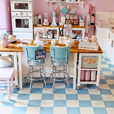 MCD ] Une cuisine vintage et pastel ? Mon rêve ! | À Voir