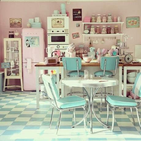 mcd une cuisine vintage et pastel mon r ve voir. Black Bedroom Furniture Sets. Home Design Ideas