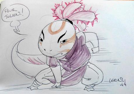 Dédicace de Shinobi Iri (version BD) par Leen en 2014