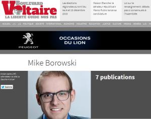 @BOROWSKIMIKE, le « rédacteur en chef » le plus bête du monde  (normal, il est d'extrême droite…)