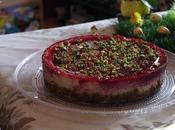 Cheesecake pistache gelee framboises