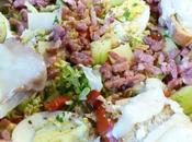 Miam Salade composée tartines chèvre