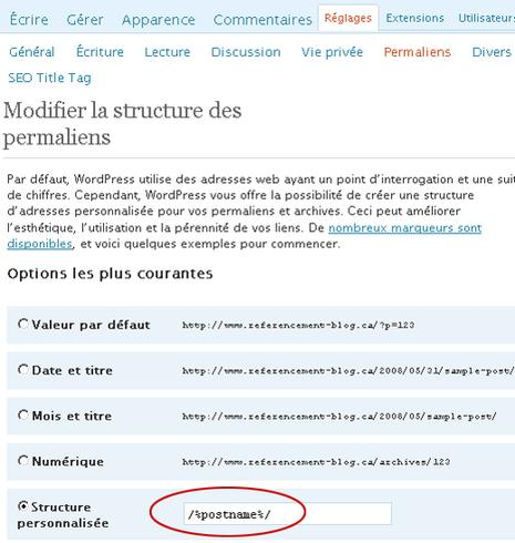 referencement de blog postname