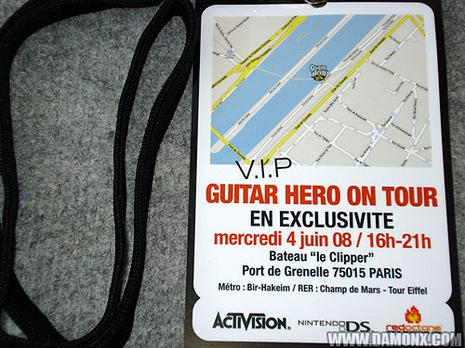 Invitation VIP Guitar Hero On Tour