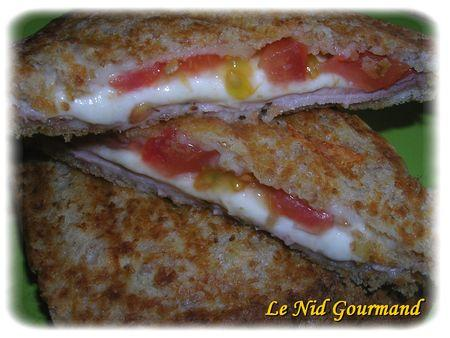 Croque tomate-mozza