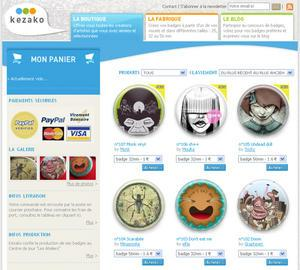 Kezako : un e-commerce de badges
