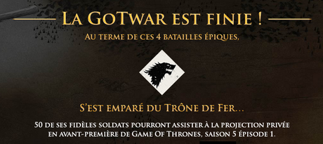 GoTWar game of thrones guerre twitter