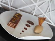Mille-feuille croquant praliné chocolait glace arabica aux agrumes