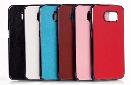 Etui et coque de protection cuir pour le Samsung Galaxy S6