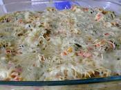 Gratin Coquillettes, Poulet, Légumes béchamel Curry