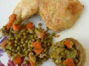 Tajine poulet légumes (petits pois, carottes, artichauts, courgettes etc...)