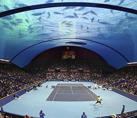 Dubaï nous prépare un tournoi de tennis sous l'eau