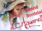 société bordelaise d'aquarelle expose Cabane bleue d'Audenge