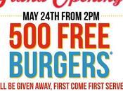 burgers gratuits Amigos Burgers Shakes 2015