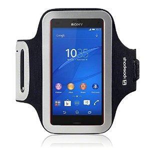 Shocksock Brassard Armband Sport pour Sony Xperia Z3 Compact Coque - Noir