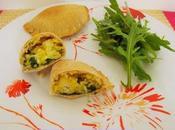 Chaussons riz-épinard-oeuf-câpres (Végétarien)