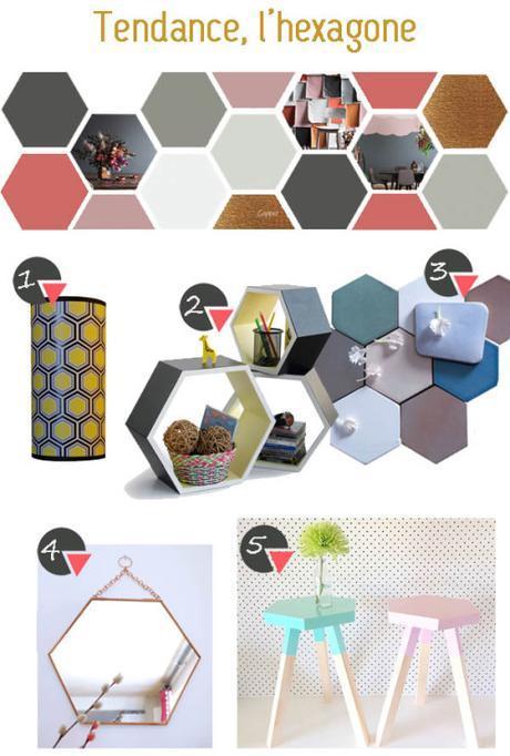 L'hexagone, polygone faite de six sommets et six côtés, a...