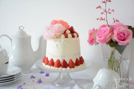 Layer Cake aux fraises et au Champagne