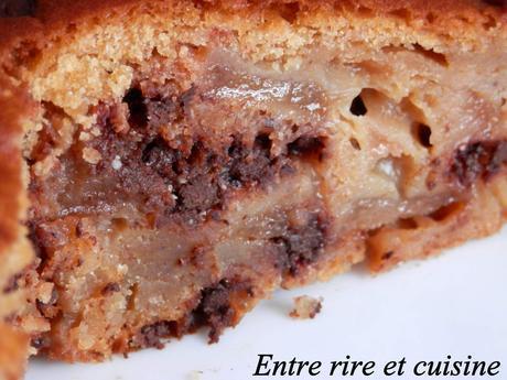 Gâteau Poires, Yaourt, Chocolat {sans matières grasses}