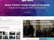 Spruce créez visuels taillés pour Twitter