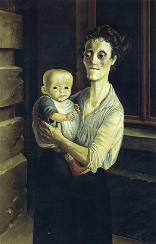 1921 mother with child
