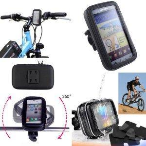 SAVFY Bike Bicycle Waterproof Phone Case Cover Bag Pouch Handlebar Mount Holder Cradle - Fit for Most Phones Within the Size Range by Only Use the Foam Pad Offered   2014 UPDATED VERSION, almost univesal for all iphones, Samsung galaxy and Samsung no...