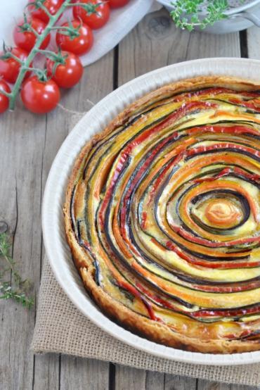 Tarte serpentin aux légumes bio et à la crème d'avoine bio ...