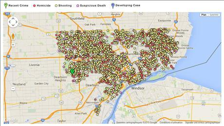 It follows-Interactive map: Major crimes in Detroit