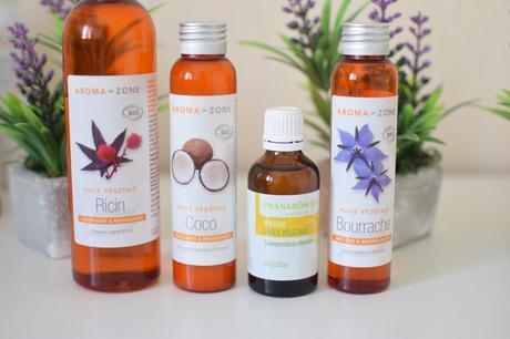 huiles végétales peau soin