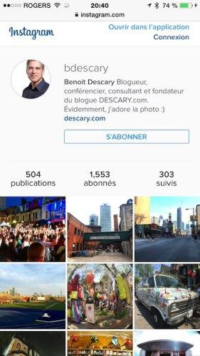 La nouvelle version Web d'Instagram fait plus de place aux photos