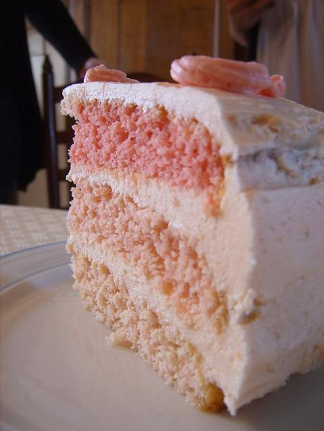 Pink Ombre Cake. [Bataille Food #24]