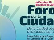 Foro Ciudad journée entière pour penser Buenos Aires gauche l'affiche]