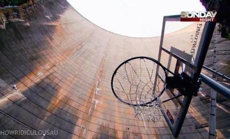 Record du monde du panier de basket inscrit depuis la plus haute altitude